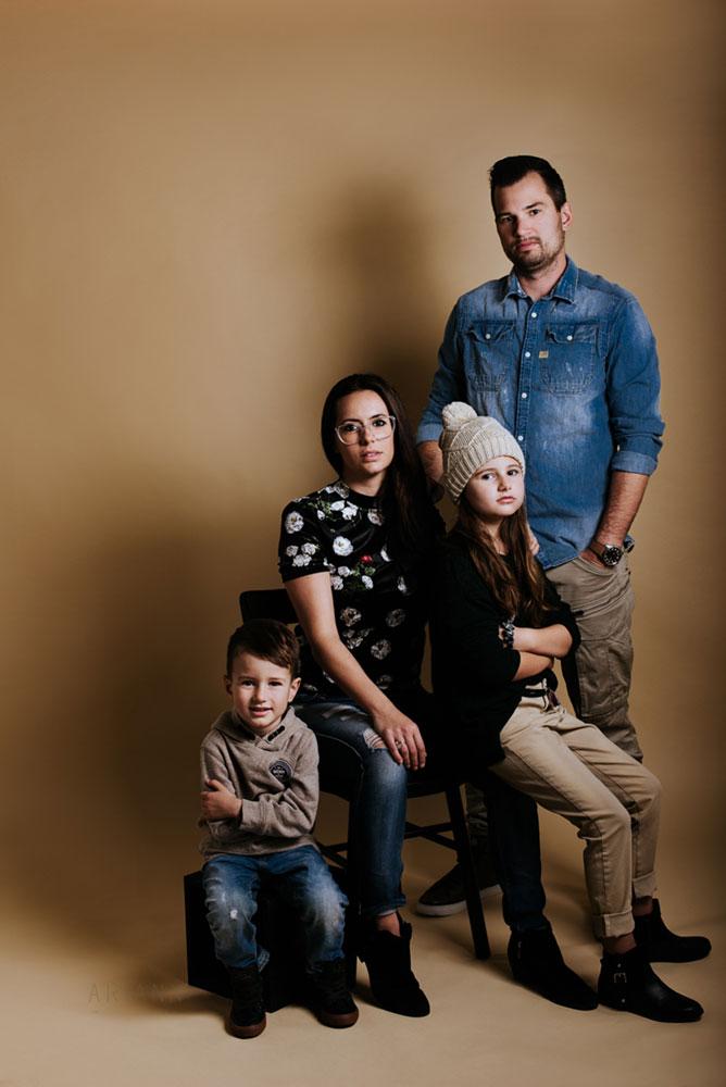 portrait de famille mode