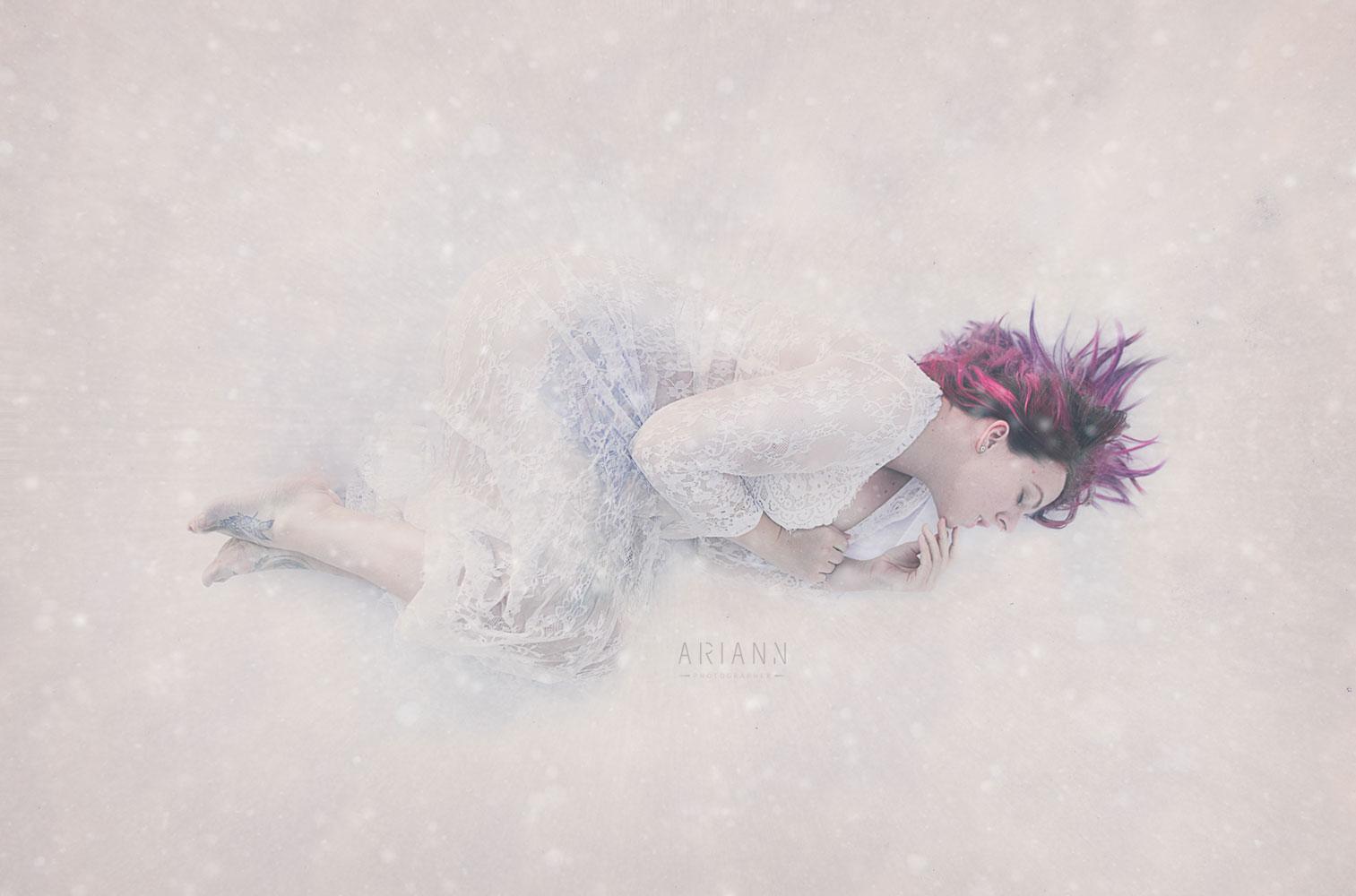 Fantasy winter selfportrait
