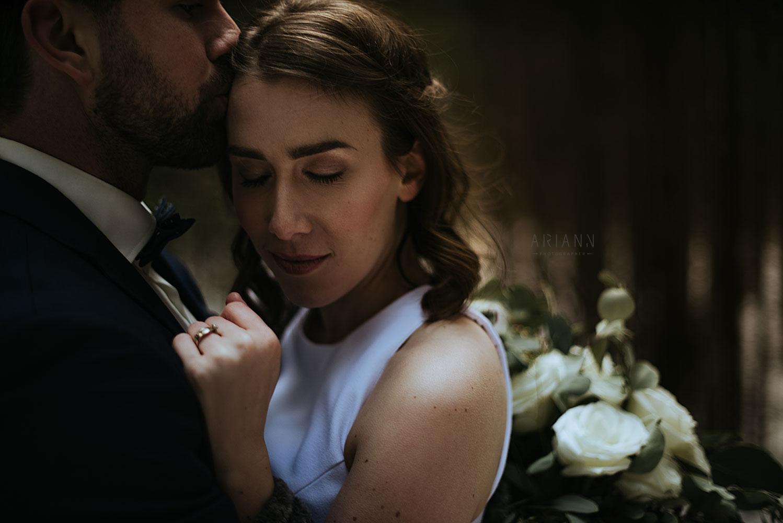 mariage d'hiver avec le coeur bohème
