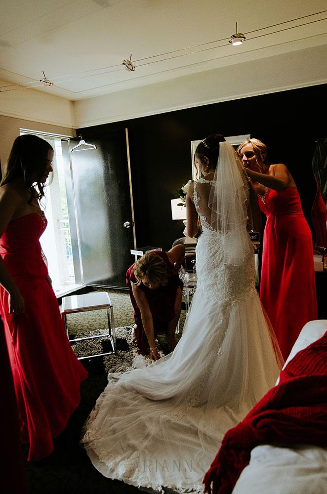 préparation de la marié