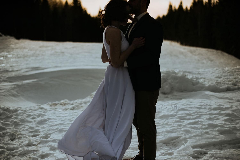 Mariage d'hiver bohème