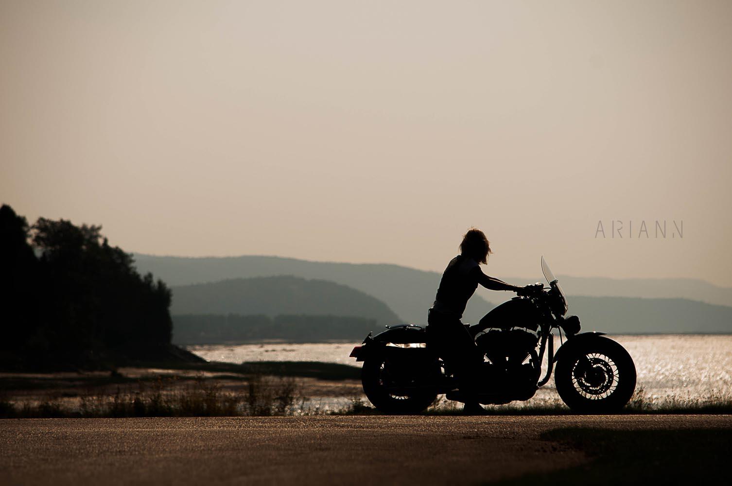 photo en moto