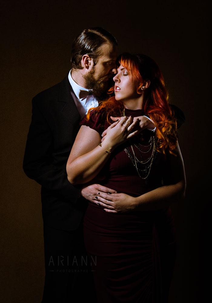 photographie de couple glamour