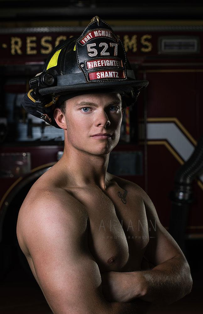 portrait de pompier